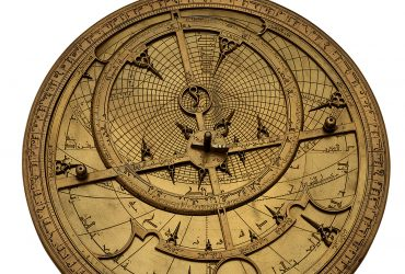 Muhammed ibn al-Fattuh al-Khama'iri, Astrolabe: Eastern Seville, Spain, 1236-37. Brass, 24.9 cm x 19.3 cm x M-35. Courtesy of Adler Planetarium, Chicago, Illinois.