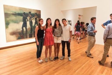 "Nasher MUSE students in ""People Get Ready."" Photo by J Caldwell."