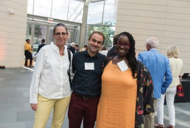Duke Associate Professor Esther Gabara, artist and Duke Professor Pedro Lasch, C. T. Woods-Powell