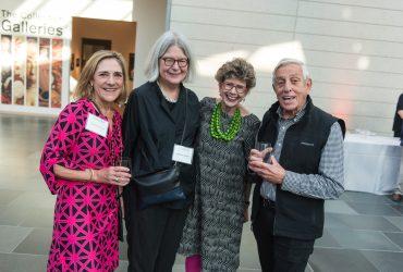 Duke Alum Lori Arthur Stroud T'79, Duke Professor Deborah DeMott, Nasher Museum director Sarah Schroth, Jonathan Prinz