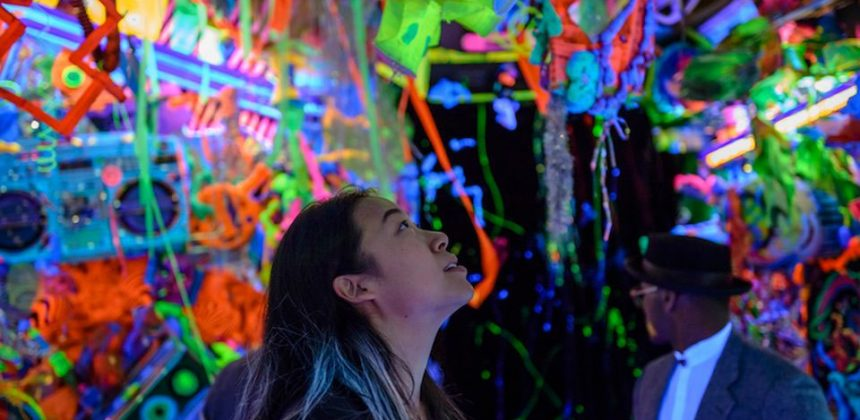 Kenny Scharf's Cosmic Cavern (2015) at the Portland Art Museum, one of the museums participating in the AAMD's paid internship project Courtesy of the AAMD and the Portland Art Museum