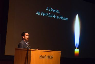"Artist Dario Robleto presented his lecture, ""A Dream, As Faithful As a Flame."""