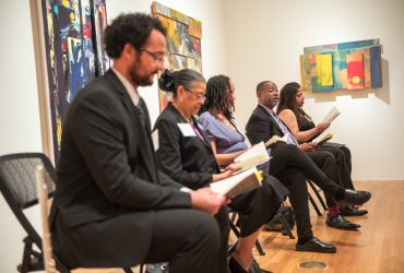 "We were thrilled to host five writes who read their haiku inspired by the exhibition ""Solidary & Solitary."""
