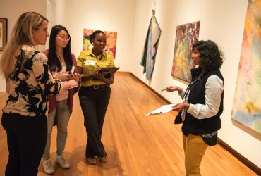 About 25 dermatology residents, faculty, research fellows and medical students visited the Nasher Museum last semester as a part of their dermatology rotation, one of several quarterly retreats that involve training in observation and close looking in the arts.