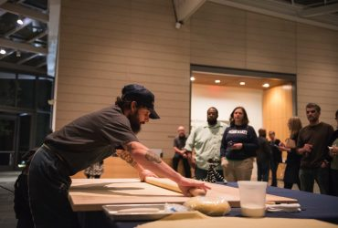 "Chef Josh ""Skinny"" DeCarolis of Mothers & Sons Trattoria in Durham gives a pasta workshop inspired by ""The Medici's Painter: Carlo Dolci and 17th-Century Florence."" Yum!"