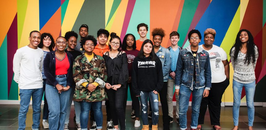 Members of the Nasher Teen Council. Photo by J Caldwell.
