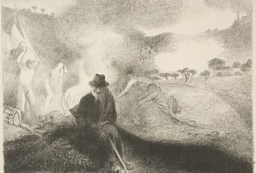 Henri-Edmond Cross, Errant (Wanderer), 1896, lithograph in black and white, 45.5 x 56.8 cm, Private Collection, Chapel Hill.