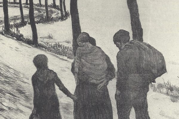 Théo Van Rysselbergh, Les Errants (The Wanderers), 1897, lithograph in black and white, 42.3 x 51.4 cm, Library of Congress.
