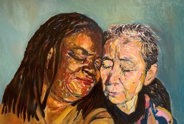 Beverly McIver and Eiko Otake. Painting by Beverly McIver.
