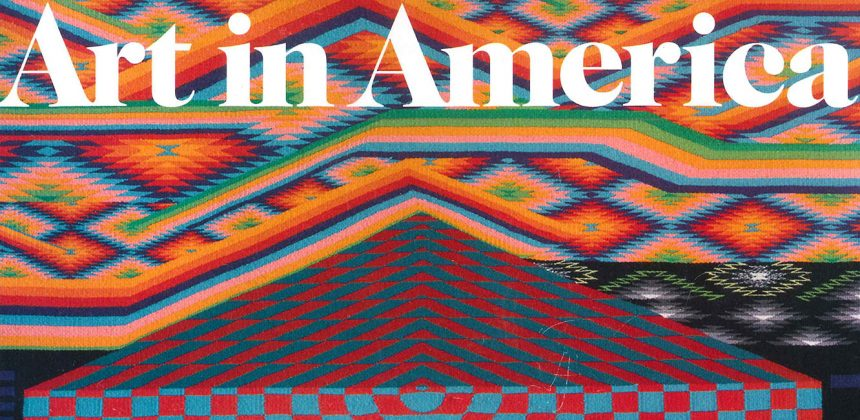 Cover of Art in America featuring art by Melissa Cody