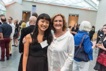 Nasher Museum intern Rae Hsu, Duke Professor Kristine Stiles