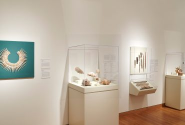 Installation view; Cultures of the Sea: Art of the Ancient Americas; Nasher Museum of Art at Duke University. Photo by Peter Paul Geoffrion.