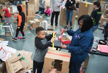 We celebrated free family day with our third installment of Cardboard City!