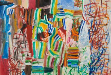 Roy Lichtenstein, Variations No. 7, 1959. Oil on canvas, 48 x 60 inches (121.9 x 152.4 cm). Collection of the Whitney Museum of American Art, New York. The Roy Lichtenstein Study Collection; gift of the Roy Lichtenstein Foundation, 2019.277. © Estate of Roy Lichtenstein.