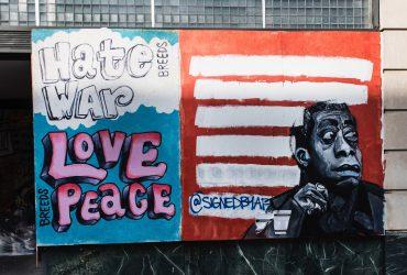 """Hate breeds war. Love breeds peace."""